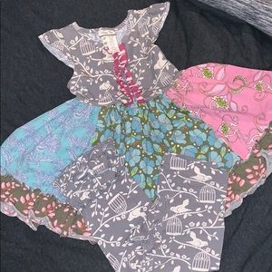 Matilda Jane Secret Fields dress & leggings sz 2